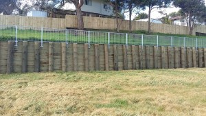 Pole Structures Retaining Wall
