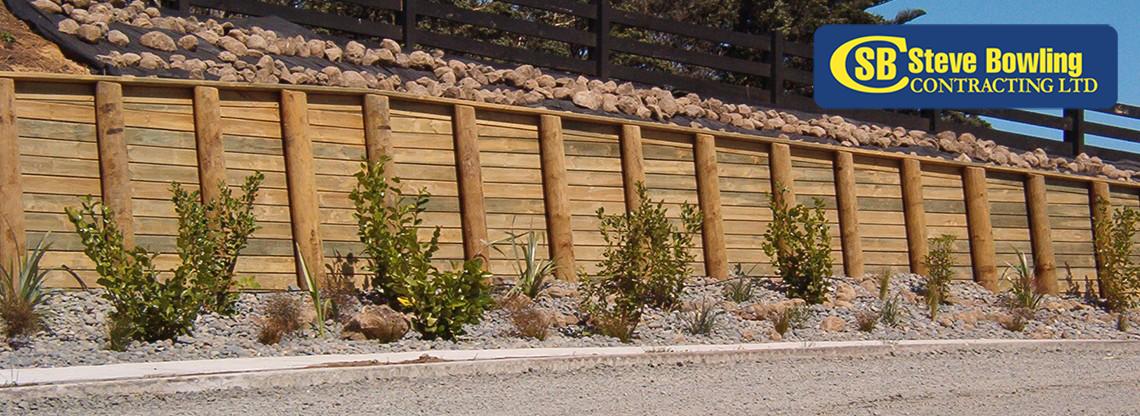 steve bowling - retaining wall
