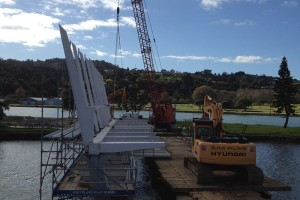 Waiarohia Stream Footbridge – Officially named Kotuitui Whitinga